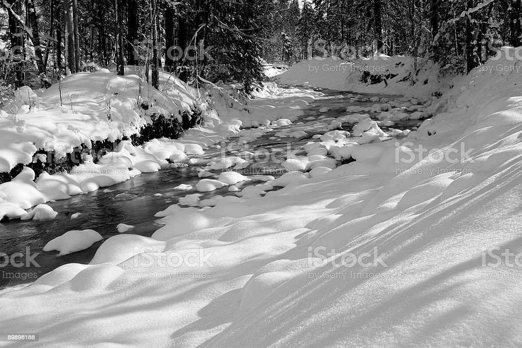 Bach im Winter royalty-free stock photo