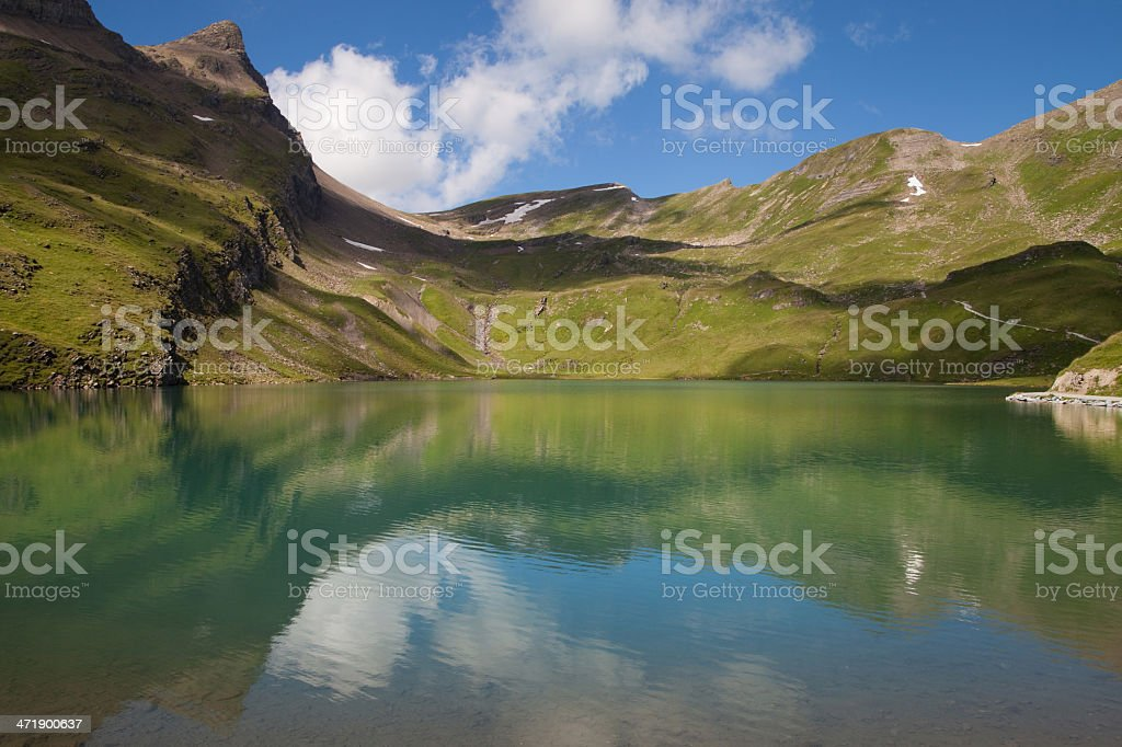 Bachalpsee reflections royalty-free stock photo