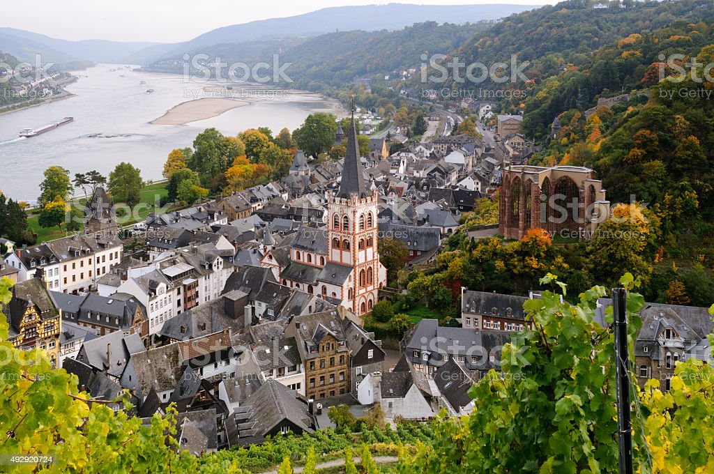Bacharach in Germany stock photo