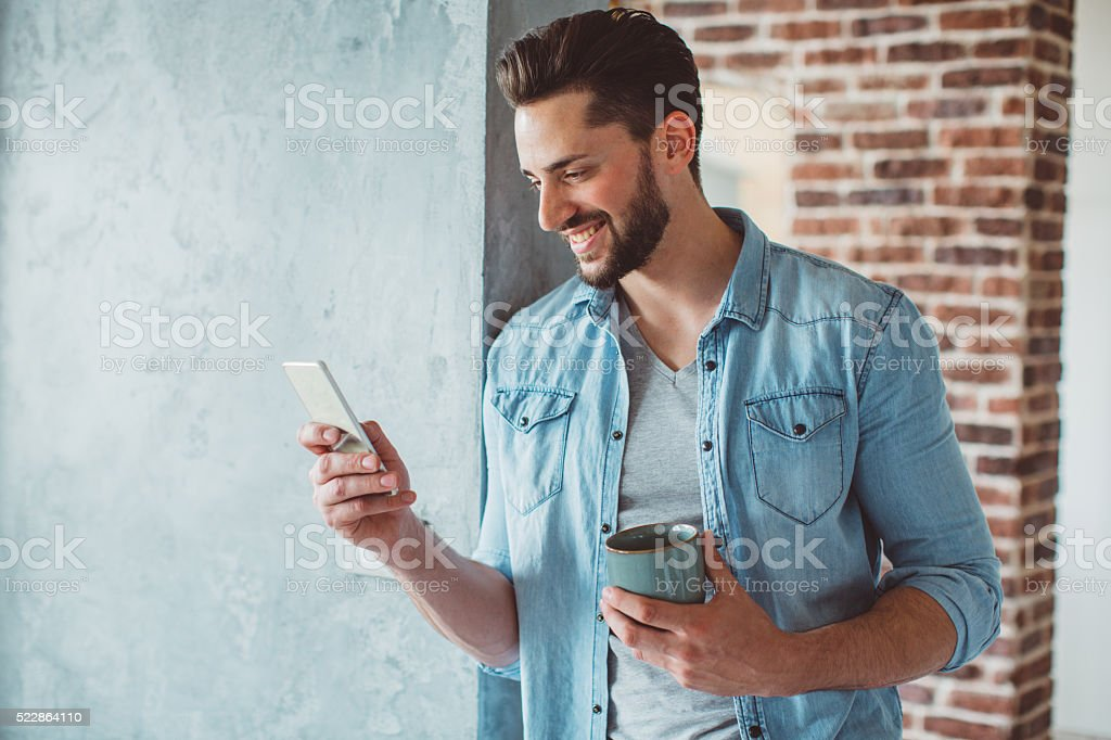 Bachelor lifestyle stock photo