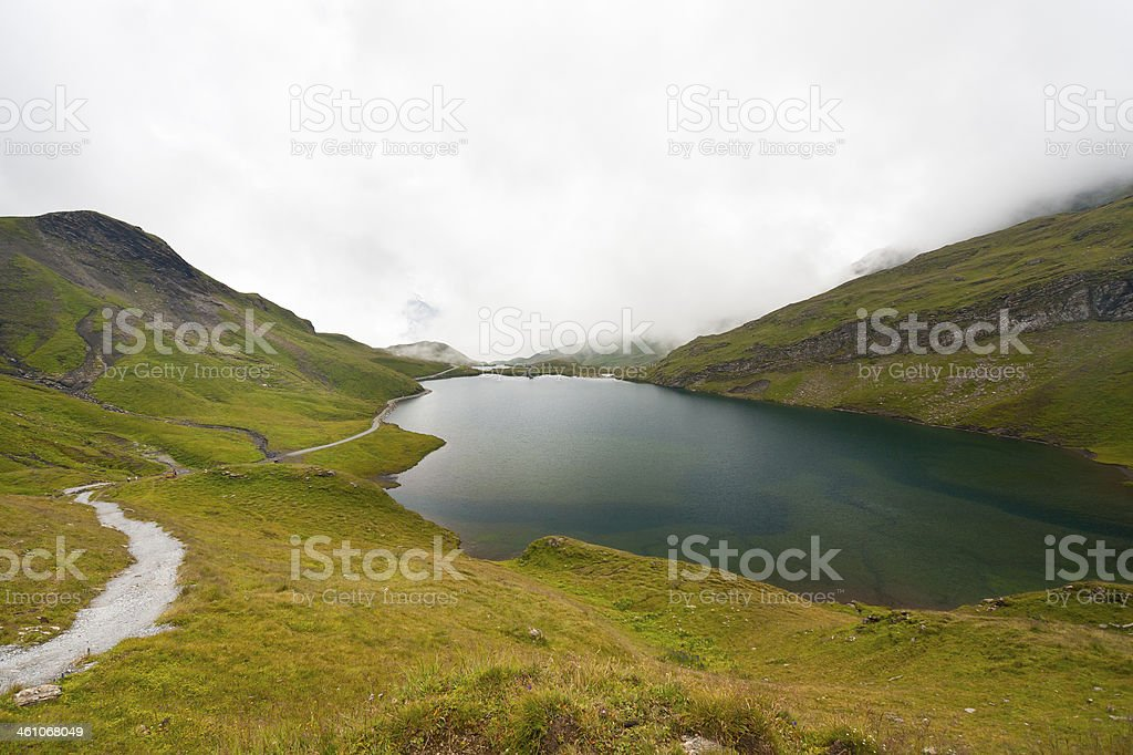 Bachsee near Faulhorn, Swiss Alps royalty-free stock photo
