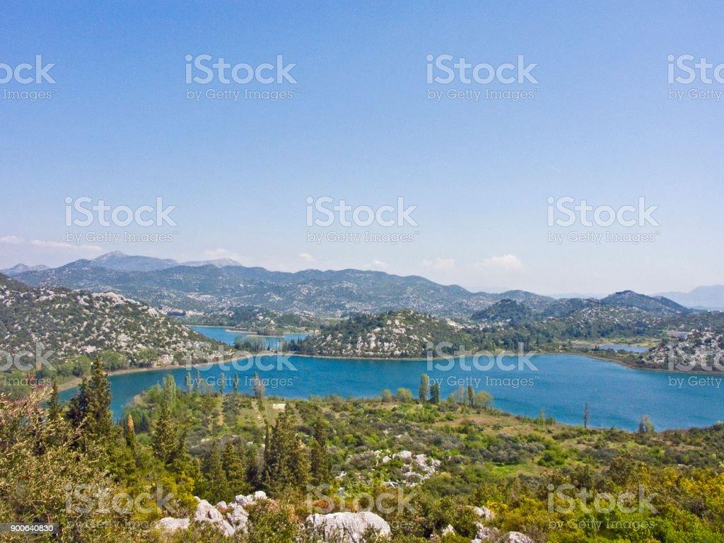 Bacina lake landscape in southern Croatia stock photo