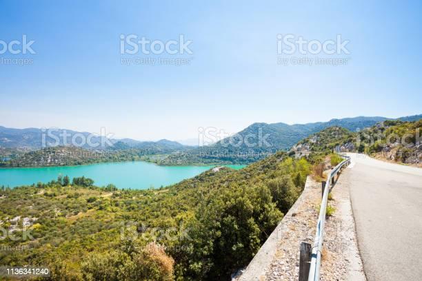 Photo of Bacina Lakes, Dalmatia, Croatia - Country road alongside the beautiful Bacina Lakes