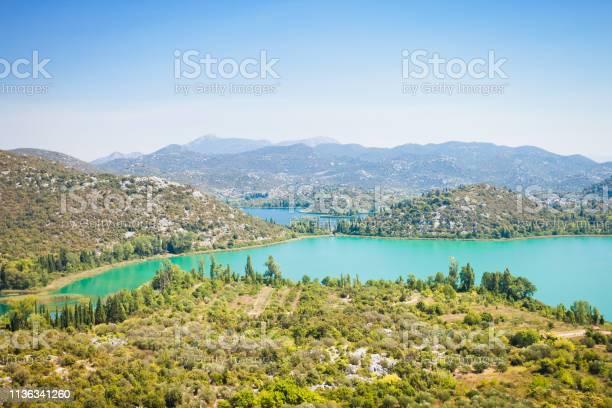 Photo of Bacina Lakes, Dalmatia, Croatia - Overview across the beautiful Bacina Lakes