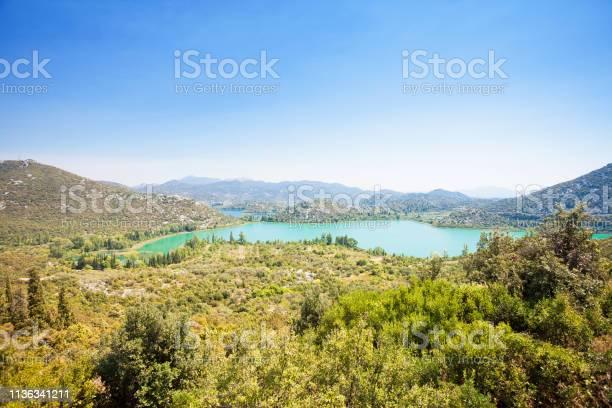 Photo of Bacina Lakes, Dalmatia, Croatia - Viewpoint lookout upon the beautiful Bacina Lakes