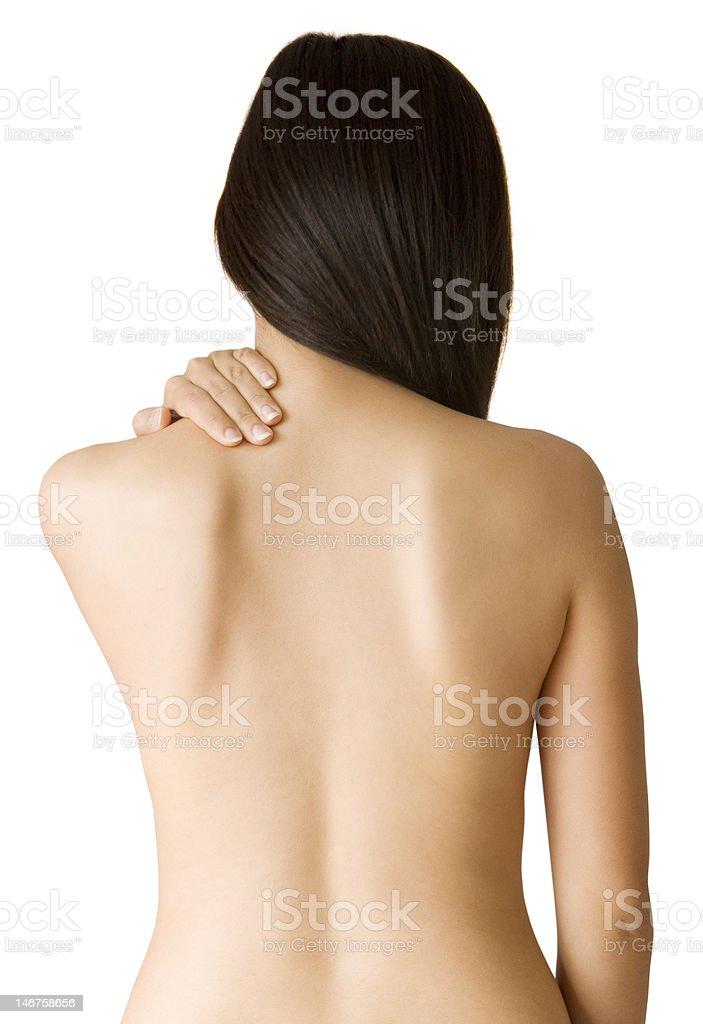 Back ache massage stock photo