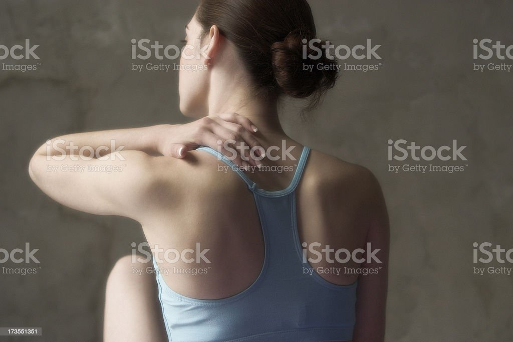 back ache massage stock photo