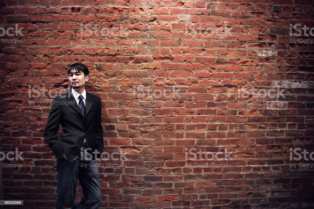 Back Against the Wall royalty-free stock photo