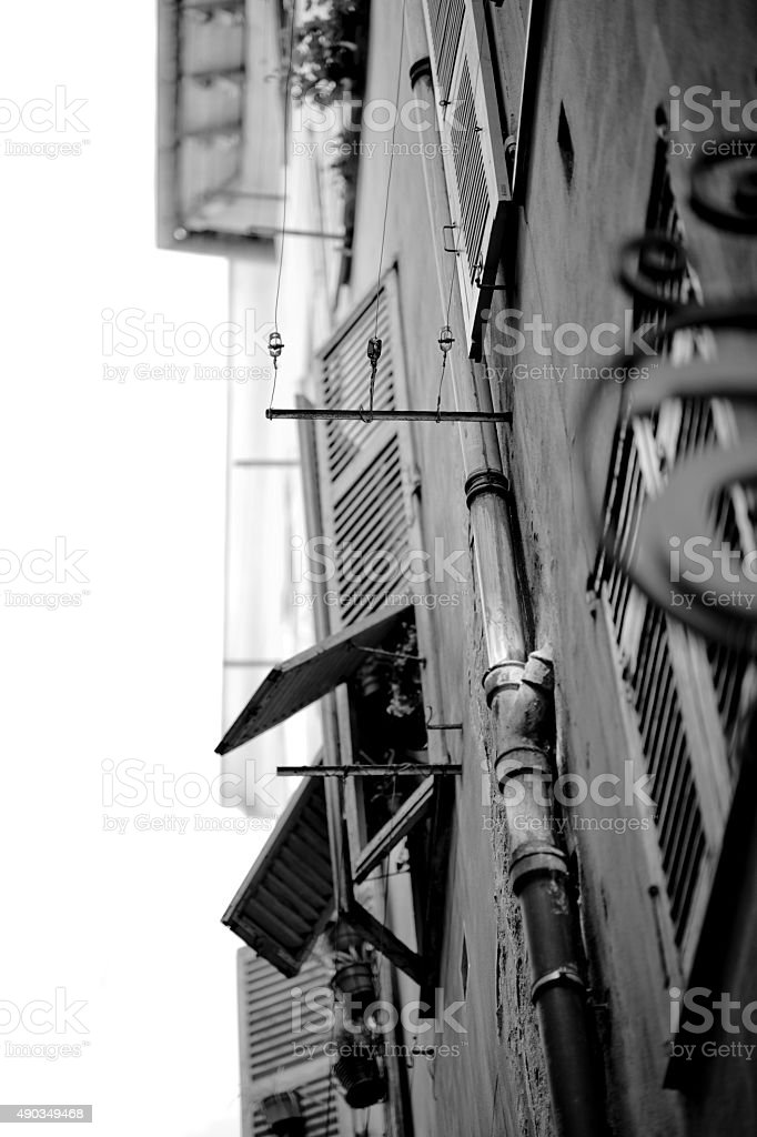 Back alley in the south of France stock photo