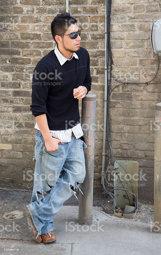 Back Alley Man royalty-free stock photo