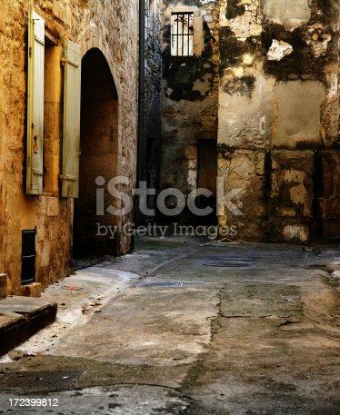 European back alley, shot in France.