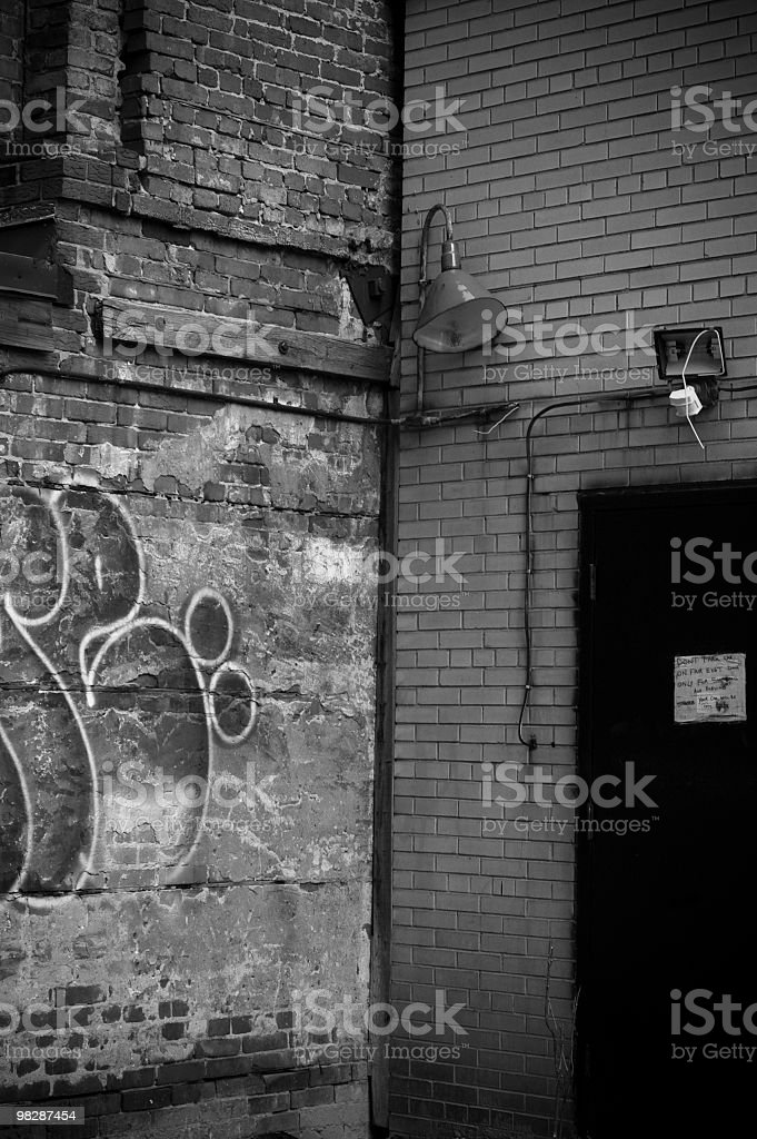 back alley royalty-free stock photo
