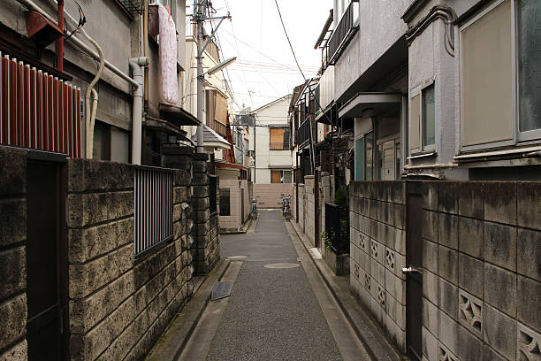 Back alleys of Tokyo Sendagi It is the scenery of the residential area of Sendagi of Tokyo. narrow stock pictures, royalty-free photos & images