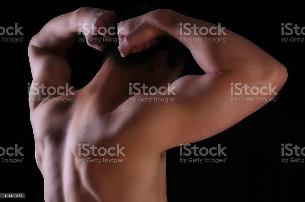 Back and Biceps stock photo