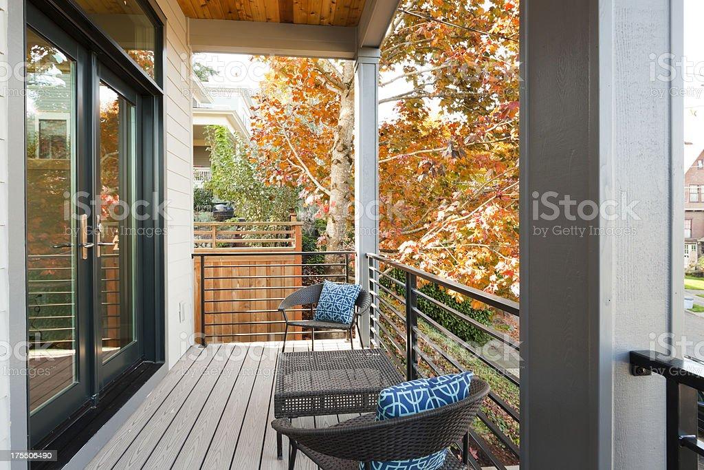 Back Balcony stock photo