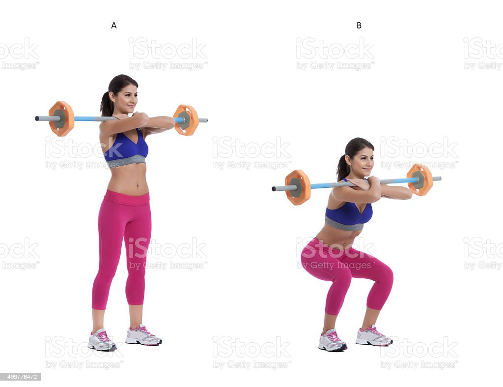 Back Barbell Squat stock photo