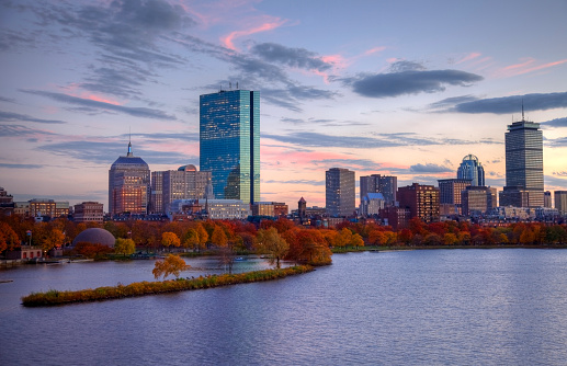 Autumn colors along the Charles River and Boston's Back Bay neighborhood. Boston is the largest city in New England, the capital of the state of Massachusetts. Boston is known for its central role in American history,world-class educational institutions, cultural facilities, and champion sports franchises.
