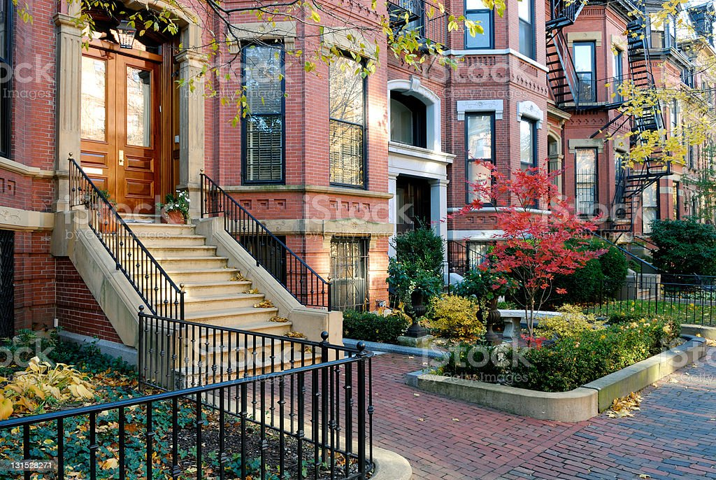 Back Bay Facades stock photo