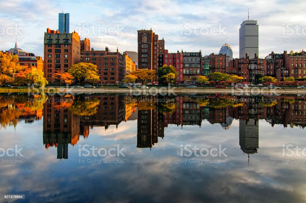 Back Bay Reflection stock photo