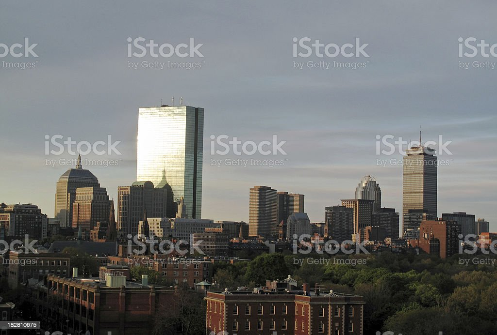 Back Bay Skyline at Dawn royalty-free stock photo