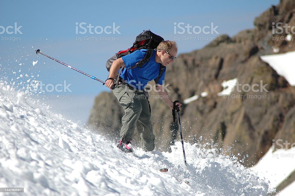 Back Country Skier stock photo