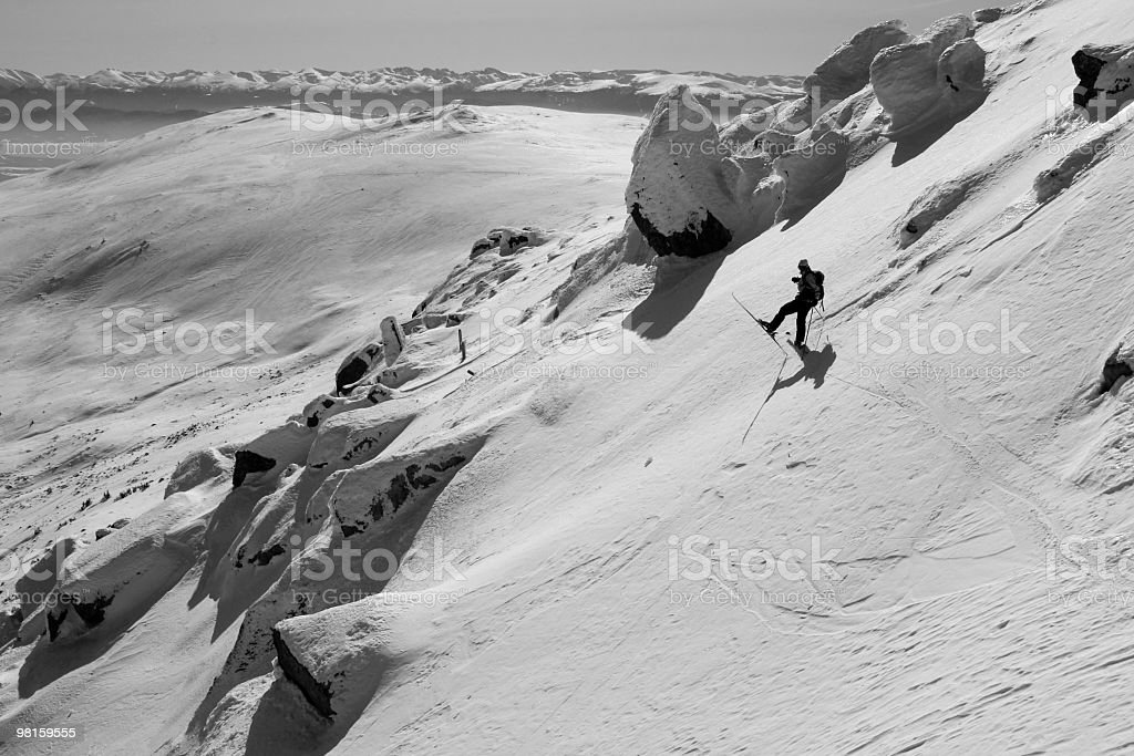 Back country skier royalty-free stock photo