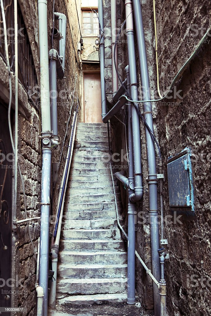 Back Door Alley and Steps royalty-free stock photo