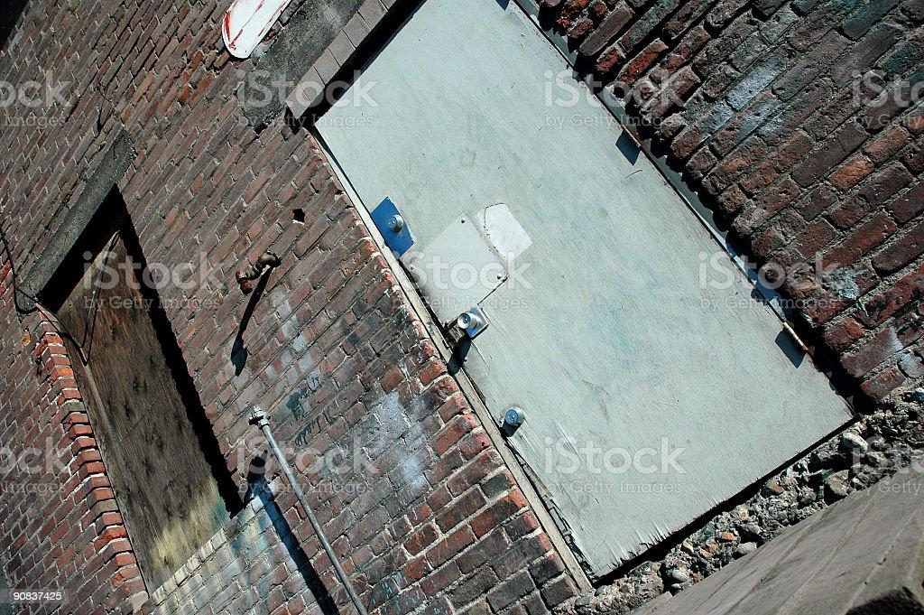 Back Door Grunge stock photo