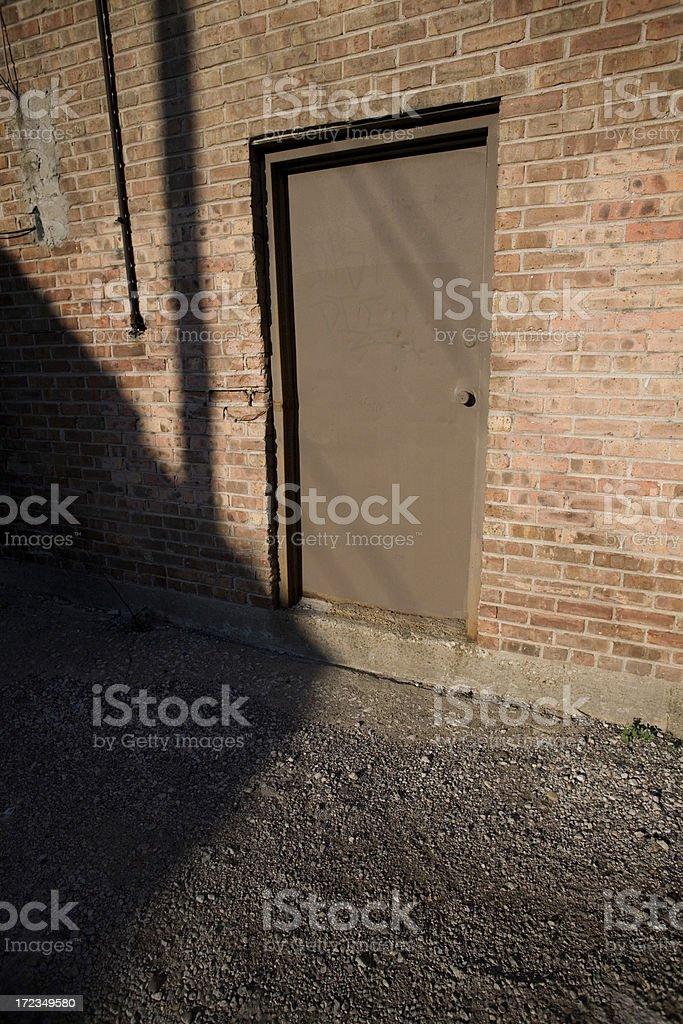 Puerta posterior foto de stock libre de derechos