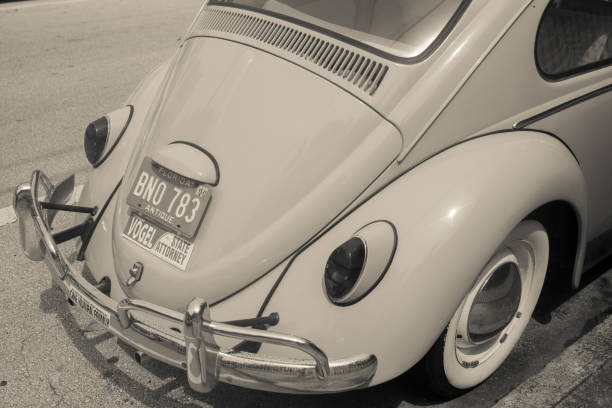 Back end of retro cult classic Volkswagen car stock photo
