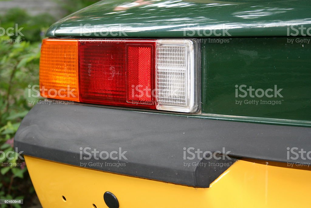 Back end of vintage sports car royalty-free stock photo