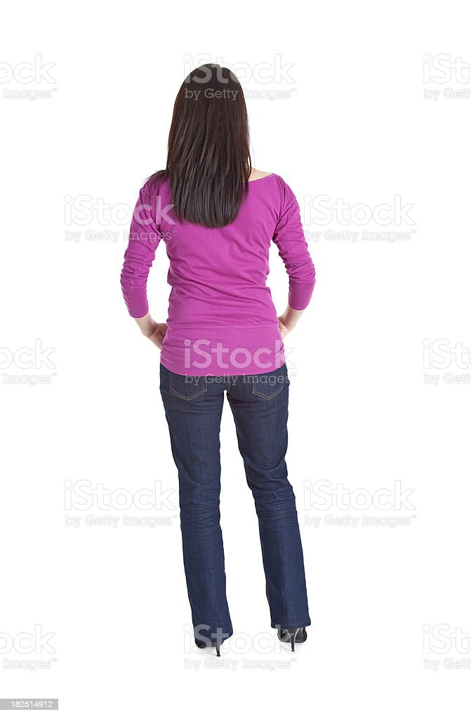 back fo young woman royalty-free stock photo