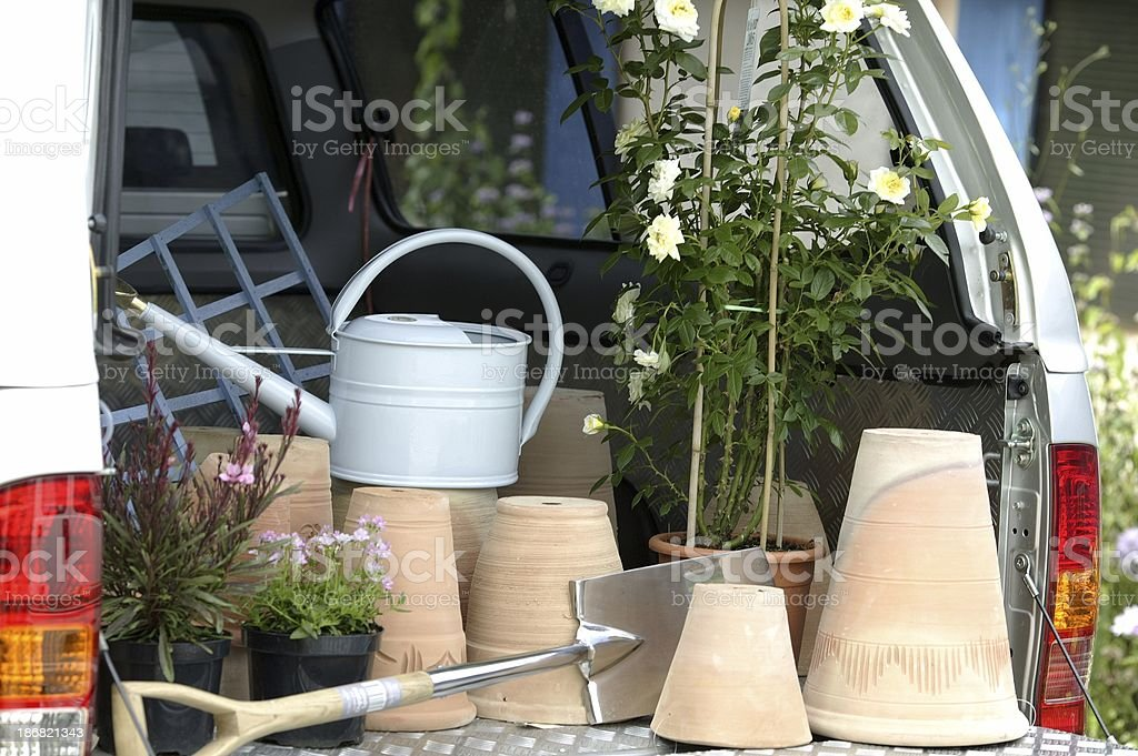 Back from the Garden Center royalty-free stock photo
