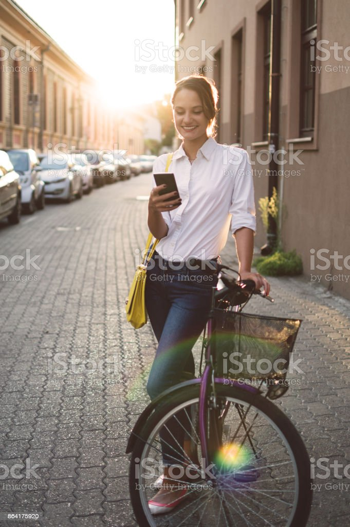 Back from work on my bicycle royalty-free stock photo