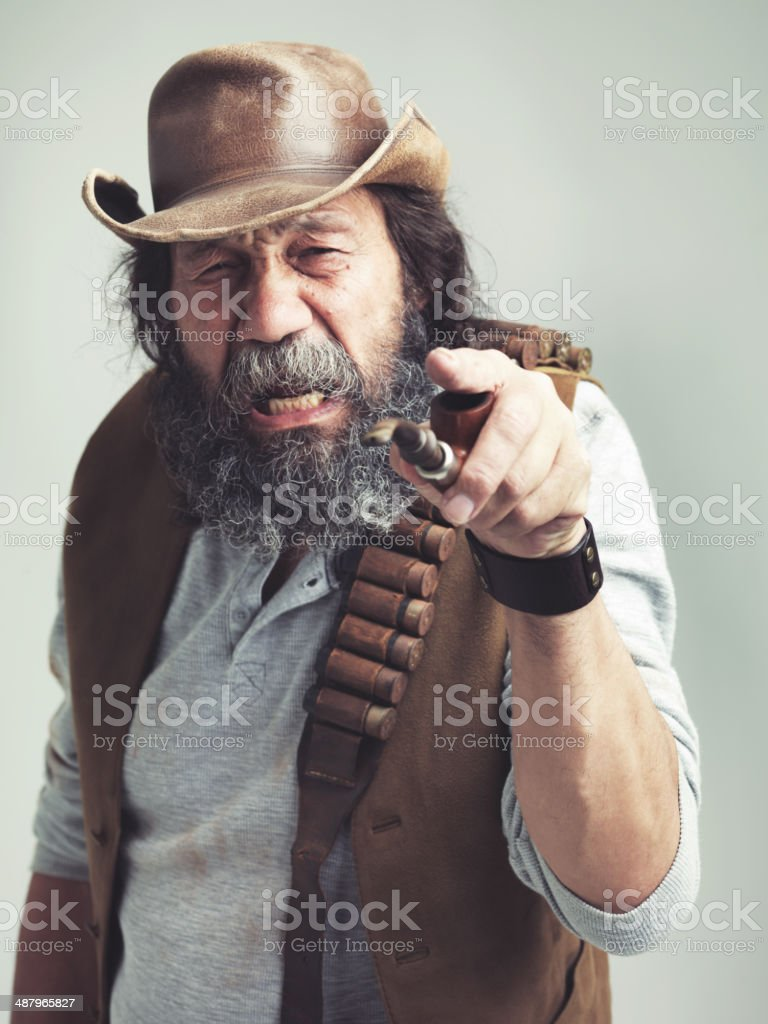 Back in my day, you wouldn't have lasted out here stock photo