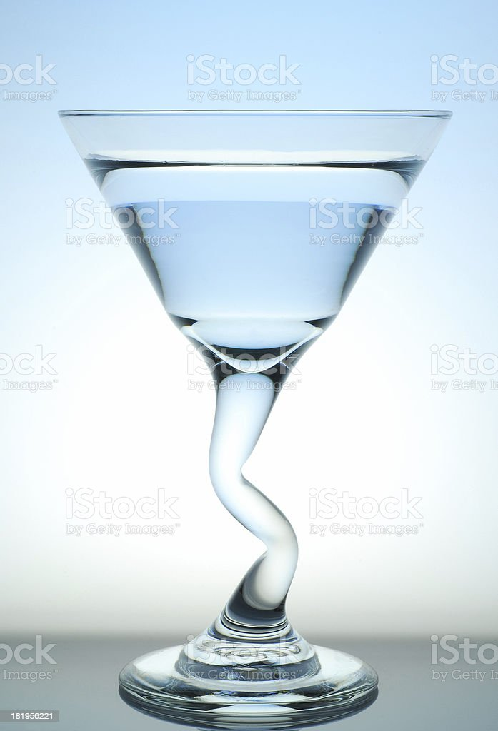 Back Lit Cocktail Glass royalty-free stock photo