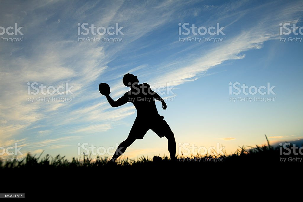 Back Lit - Football Player royalty-free stock photo
