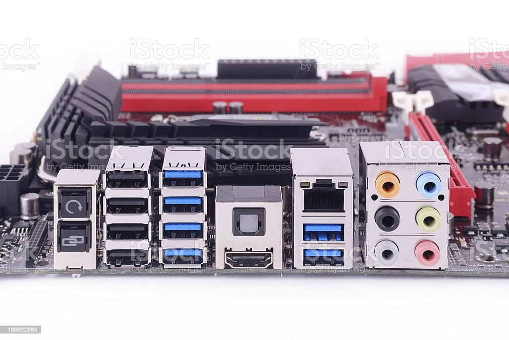 back mainboard royalty-free stock photo