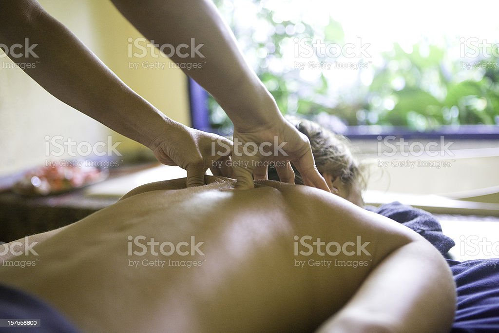 Back massage royalty-free stock photo