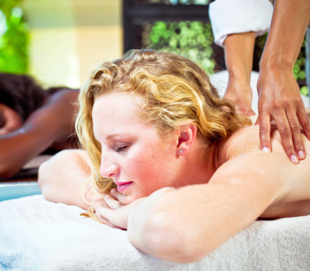 Back Massage Stock Photo - Download Image Now