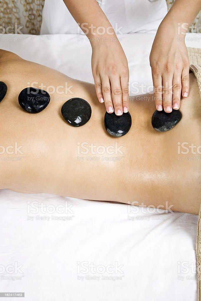 back massage stone royalty-free stock photo