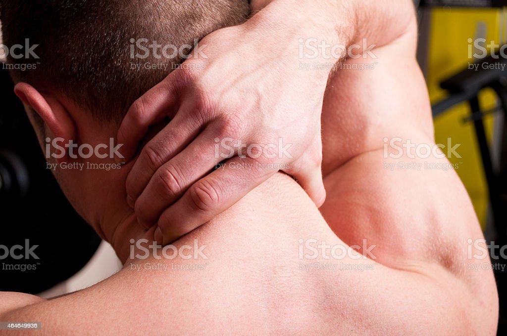 Back neck pain concept stock photo