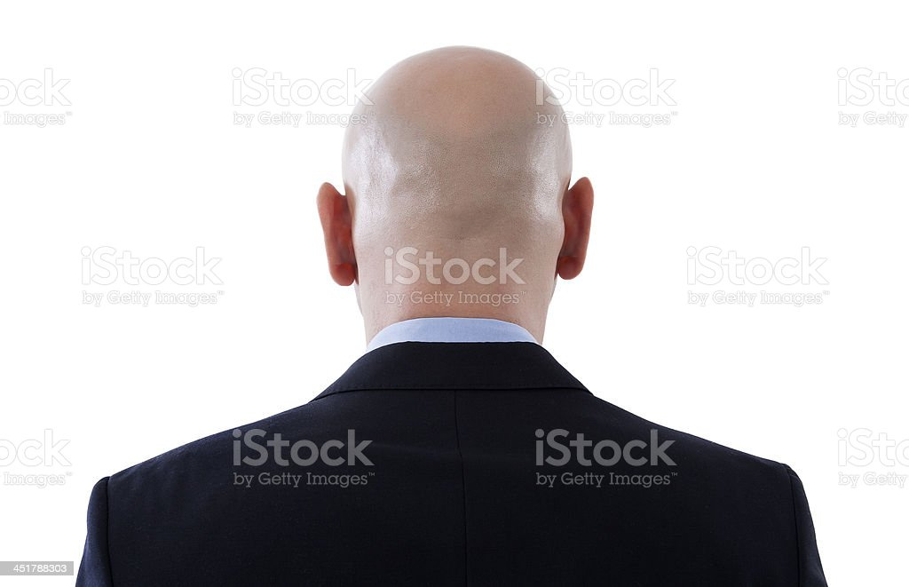 back of a bald head stock photo