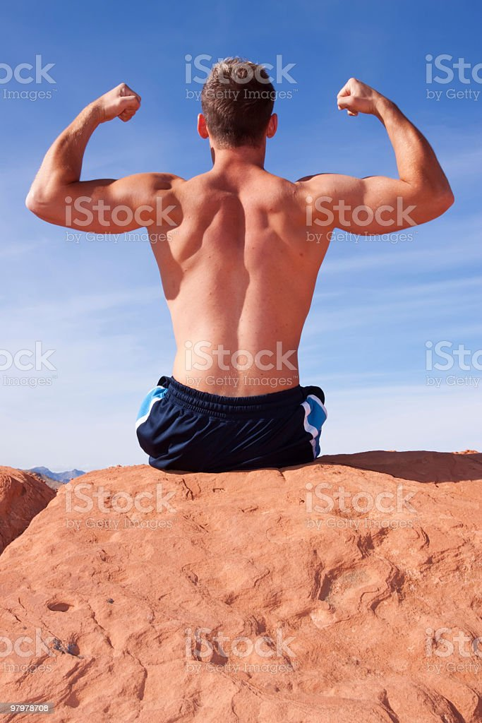 Back of a body builder royalty-free stock photo