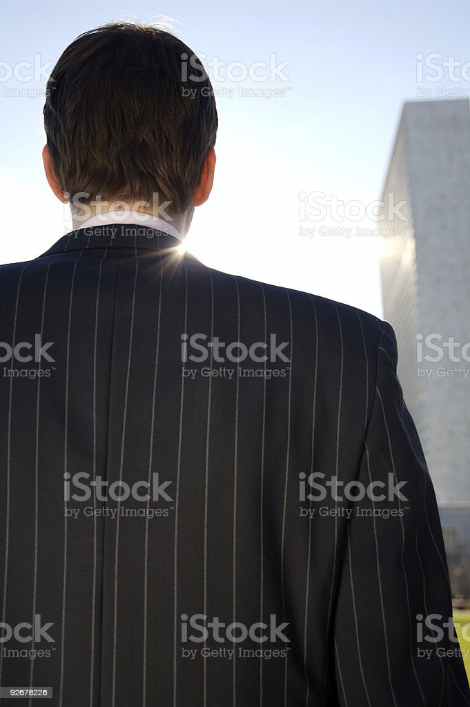 Back of a business man royalty-free stock photo