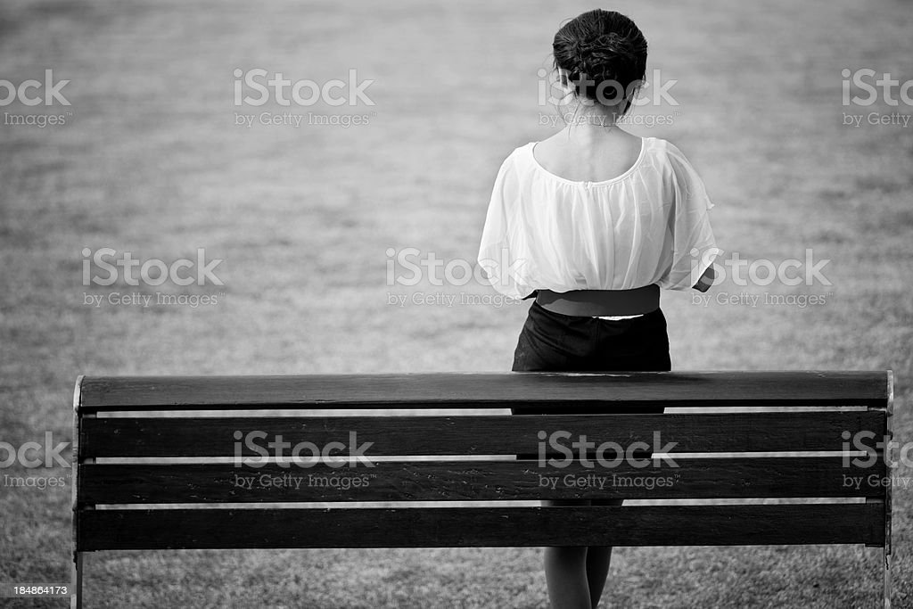 back of a business woman royalty-free stock photo