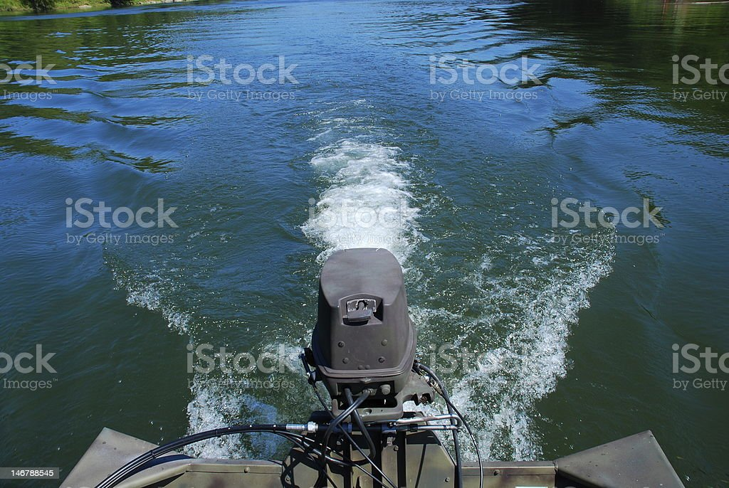 Back of boat royalty-free stock photo