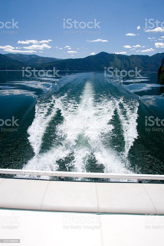 Back of boat stock photo