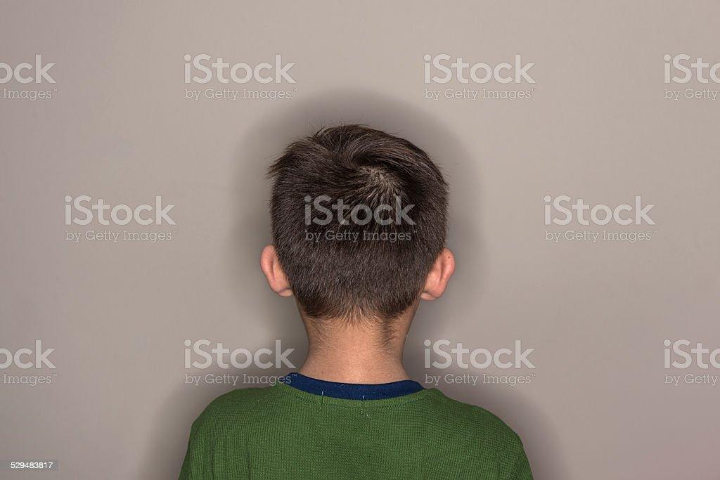 Back Of Boy's Head stock photo