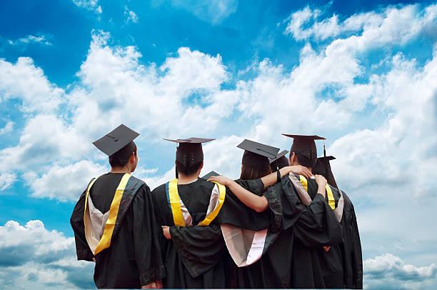 Rückseite des chinesischen Absolventen – Foto